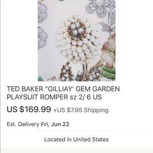 6da8774fd2e Ted Baker Other - Ted Baker romper